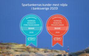 Sparbankernas kunder mest nöjda i banksverige 2020Sparbankernas kunder mest nöjda i banksverige 2020