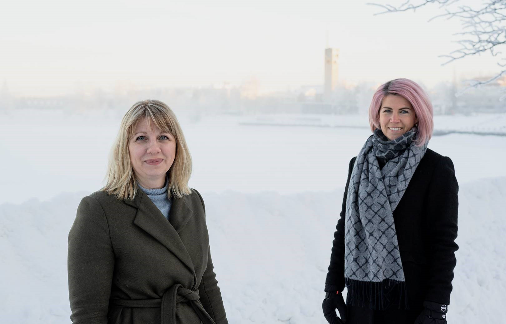 Erika Mattsson, Sparbanken Nord och Camilla Sehlin, NyföretagarCentrum Nord.